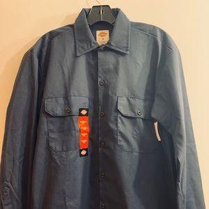 Dickies button down work shirt dark blue